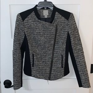 Halogen black and white tweed jacket blazer XS
